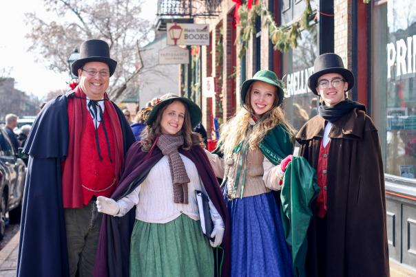 Family dressed up as Christmas characters in Saint Charles