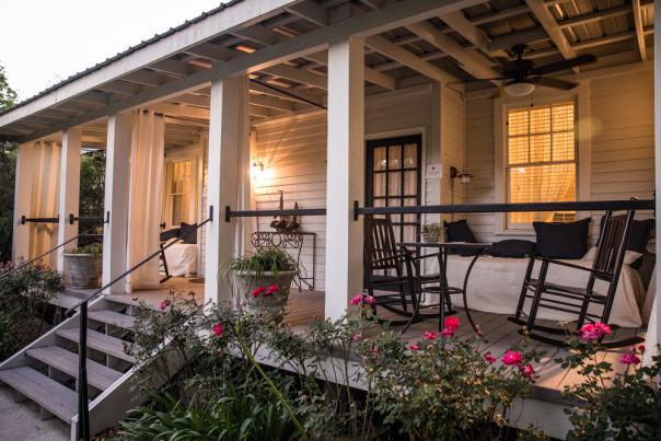 Exterior view of Blue Heron B&B porch