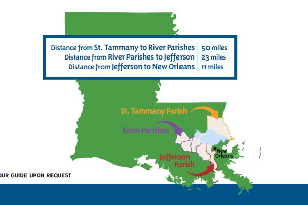 Soul of the South itinerary Louisiana Map