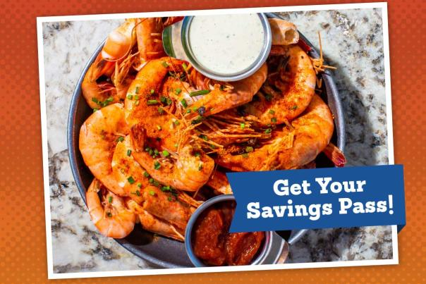 Get Your Tammany Taste of Summer Savings Pass! Featuring shell-on shrimp