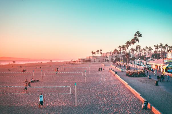 Huntington Beach Volleyball Courts