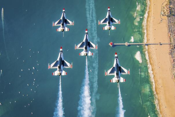 The Thunderbirds at the Huntington Beach Airshow