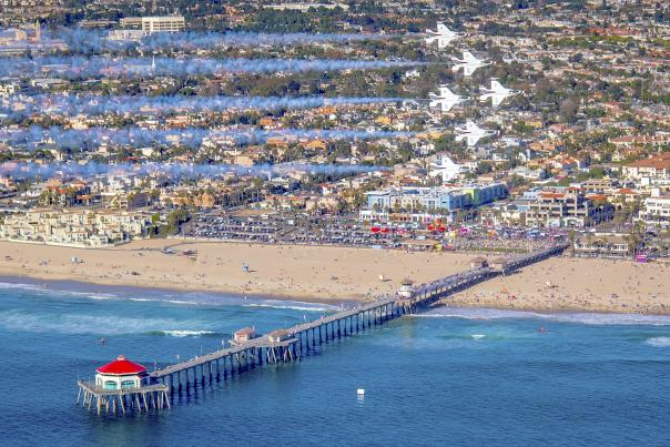 The Great Pacific Airshow in Huntington Beach