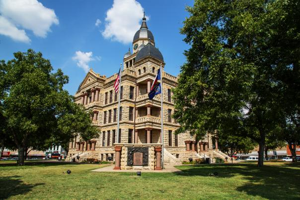 Denton County Courthouse-Historical Building-H