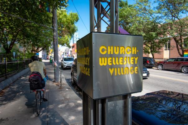 Neighbourhood sign in Church Wellseley Village