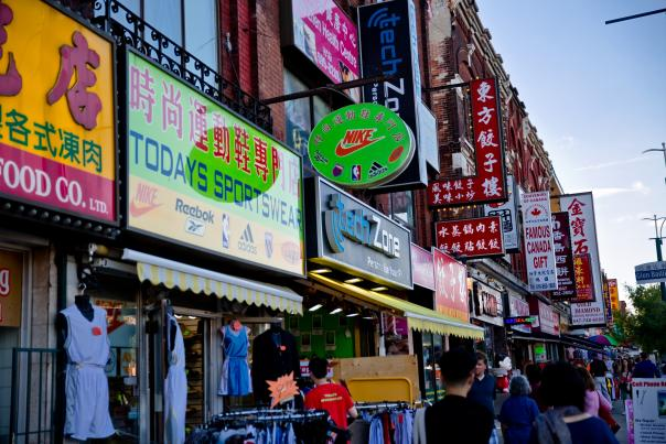 The shops and markets of Toronto's Chinatown on Spadina Avenue