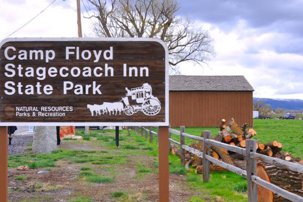 Camp Floyd State Park Sign
