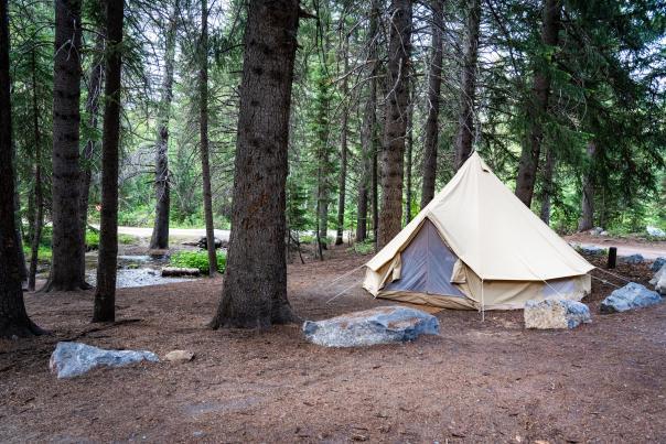 Glamping in Utah Valley Alpine Loop Campground
