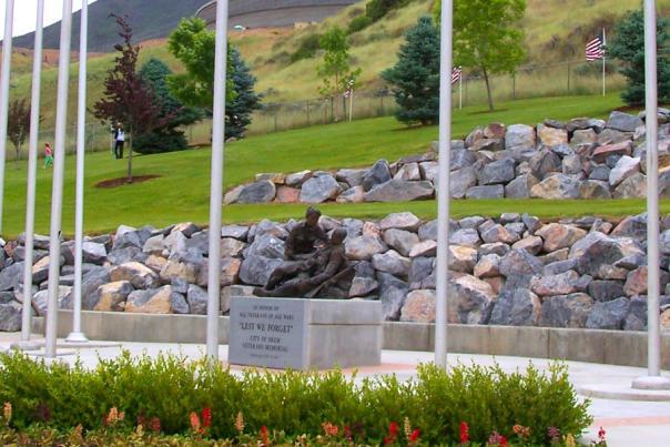 Memorial monument at park