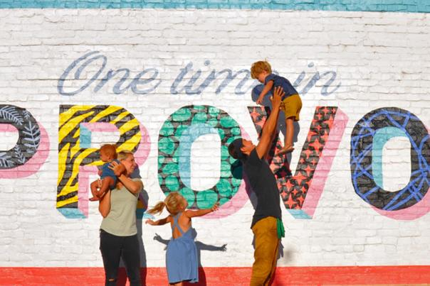 One Time in Provo Mural - Bucket List Family