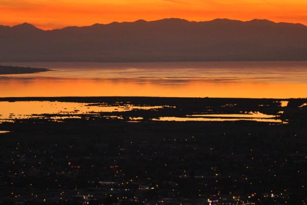 Utah Valley night view - sunset