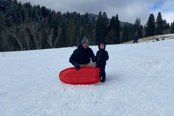 Sledding at Tibble Fork