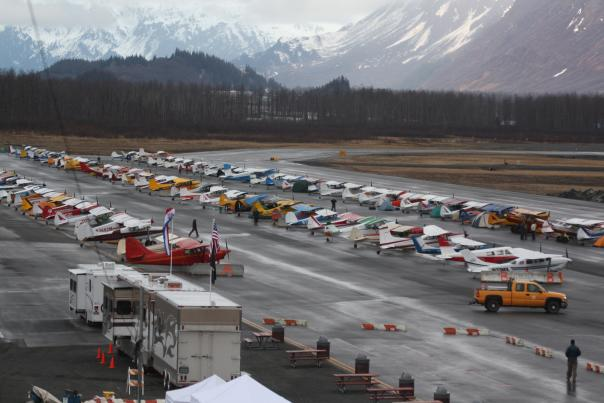 small planes at a the Valdez airport
