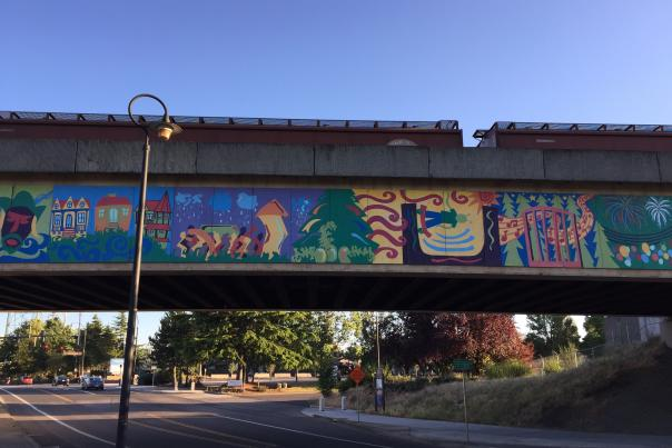 Railway Bridge Mural