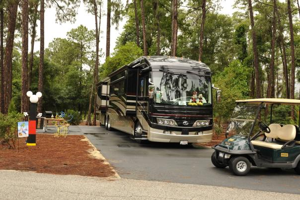 RV in forest