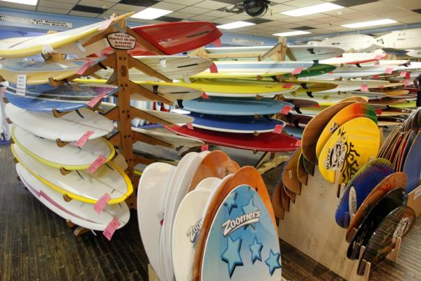 Ron Jon Surf Shop has all types of surfboards to choose from.