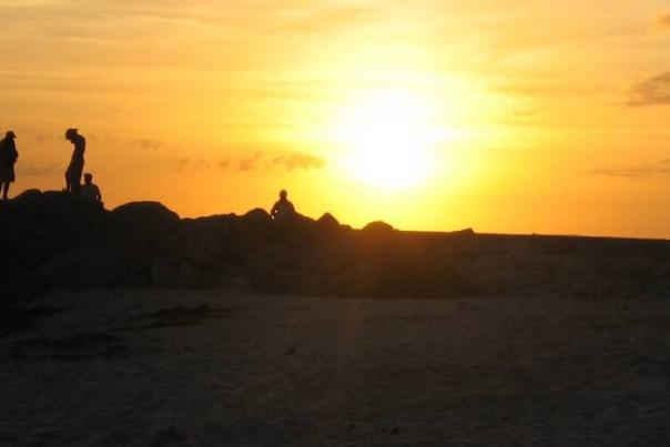 A sunset over the beach at Key West's Fort Zachary Taylor Historic State Park is sure to fan the flames of romance.  - Emmy Nicklin
