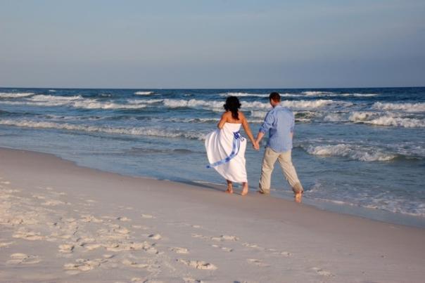 Beach weddings are very romantic