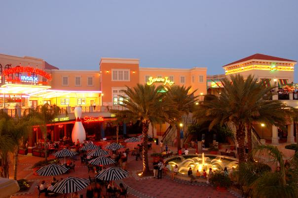 Channelside Bay Plaza in Tampa is an entertainment plaza filled with restaurants, theaters, bars and clubs.