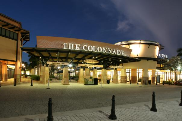 The Colonnade Outlets at Sawgrass Mills, an outdoor promenade featuring dozens of luxury name brand retailers, many of which are exclusive to Sawgrass Mills in the South Florida market.