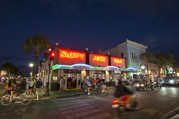 Sloppy Joe's Bar is inextricably linked with Key West's most famous resident writer, Ernest Hemingway, and a band of colorful characters; it remains an authentic slice of Old Town.