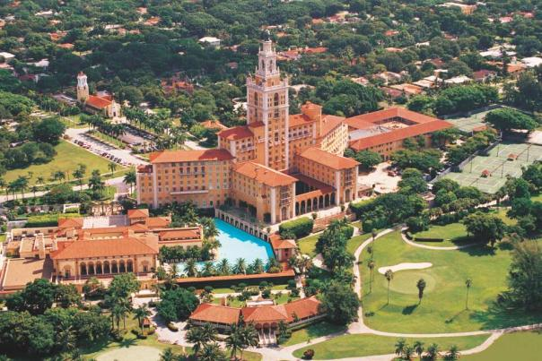 The Biltmore Hotel in Coral Gables is fewer than 10 miles from Miami International Airport and only about eight from Miami