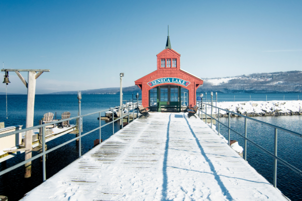 Pier in Winter