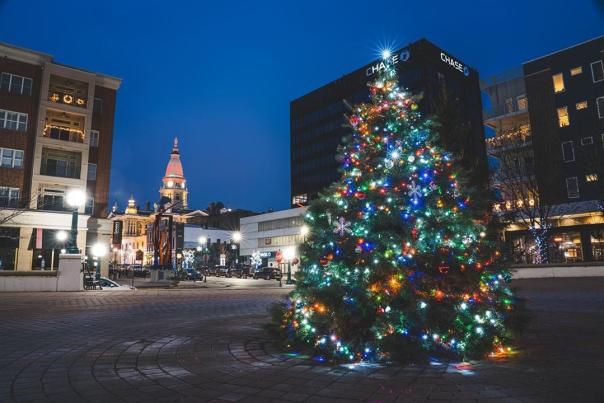 Downtown Lafayette at Christmas