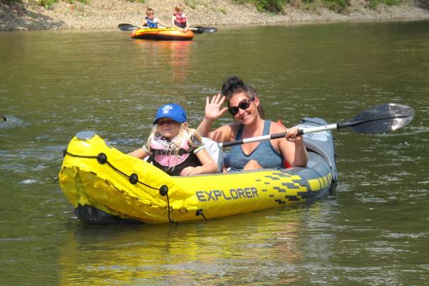 Canoe at Wildcat Creek