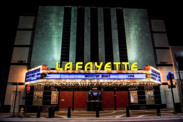Lafayette Theater at night