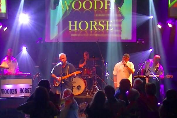 Wooden Horse at Jean's Playhouse in Lincoln, NH