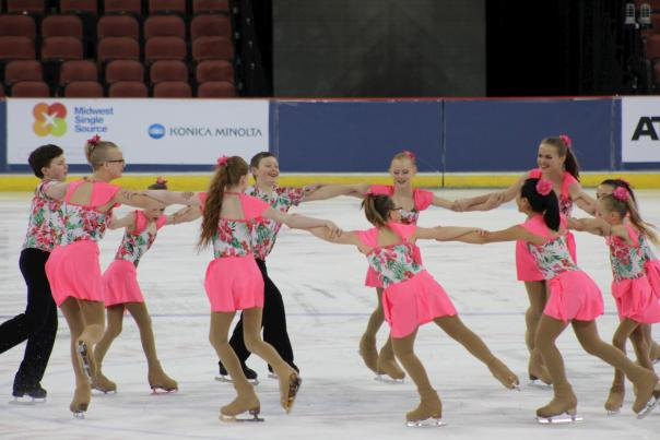 Synchronized Ice Skaters at INTRUST Bank Arena