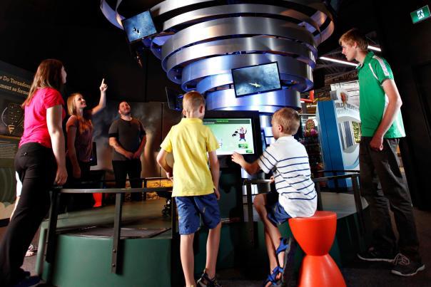 Tornado Sculpture at Wild Weather Exhibit at Exploration Place