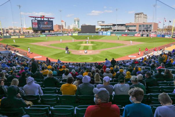 First Baseball Game at Riverfront Stadium