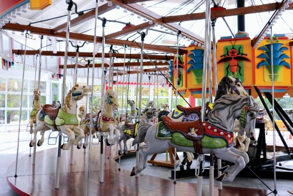 Restored Joyland Carousel at Botanica Wichita