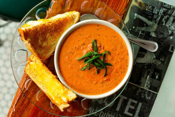 Tomato Bisque soup from Old Mill Tasty Shop