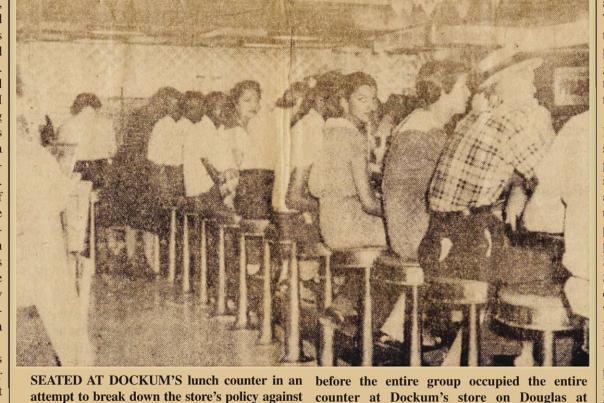 Enlightener Newspaper Article on Dockum Sit-in