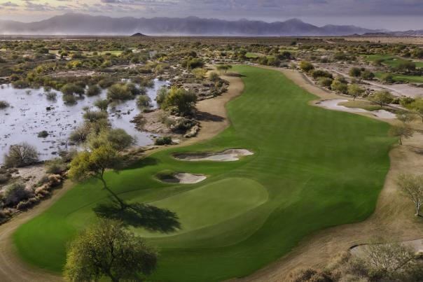 Overhead image of Whirlwind Golf Club, Devil's Claw hole 3