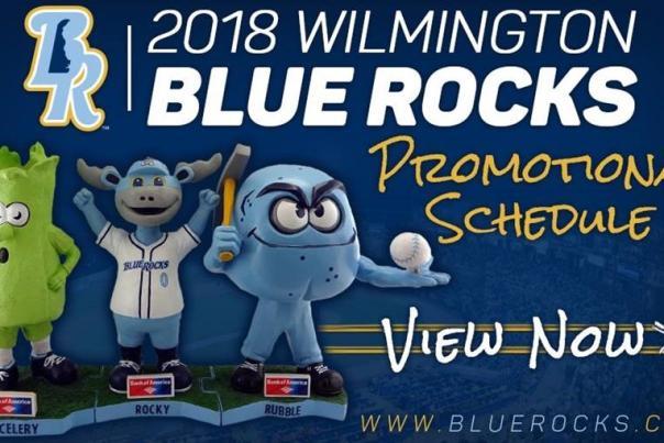 2018 Blue Rocks Promo Schedule