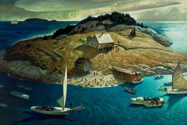 NC Wyeth - Island Funeral