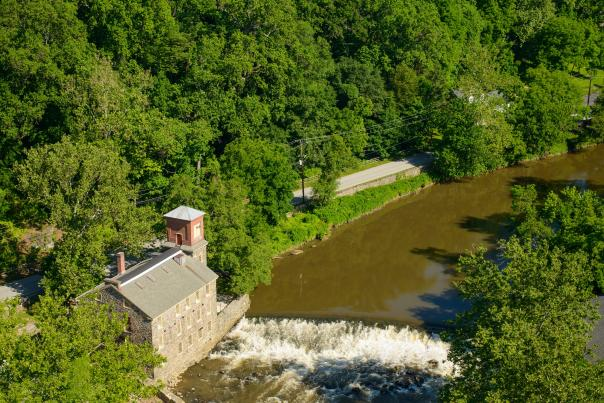 Aerial Brandywine River and Mill