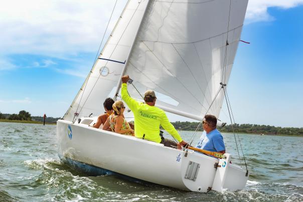 Sailing Instructor on a Sailboat