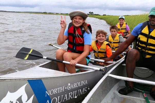 NC Aquarium Summer Camp Canoeing