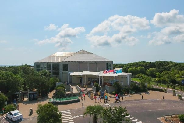 Exterior of the North Carolina Aquarium at Fort Fisher