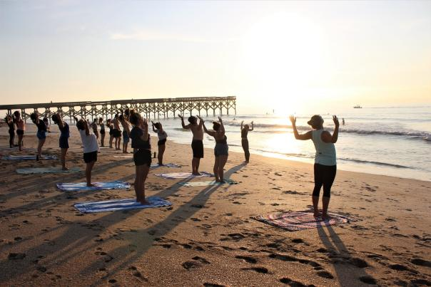 Morning Yoga at Wrightsville Beach