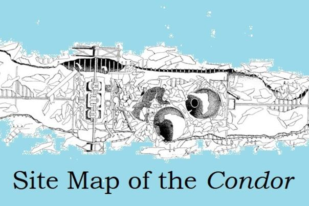 Site Map of the wreckage of the Condor