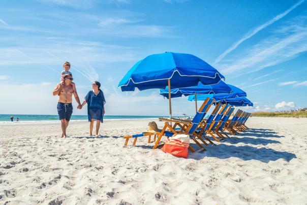 Family on Shell Island Beach