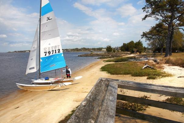 Sailboat at Carolina Beach State Park