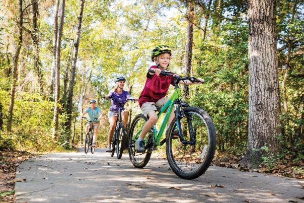 Biking in The Woodlands