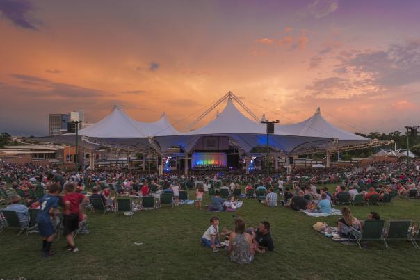 Cynthia Woods Mitchell Pavilion at Sunset